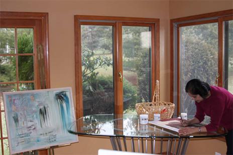 Alka in her Studio